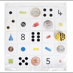 Tapete transparente con Bolsillos 5x5 para Bee-Bot