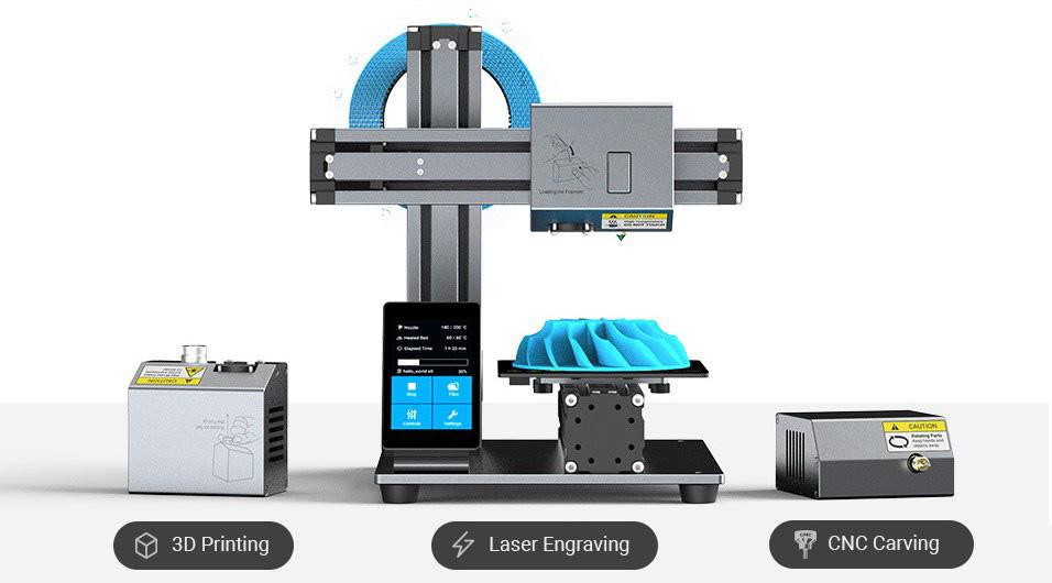 impresora modular 3d snapmaker 3 en 1