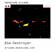Makecode Arcade Bim Destroyer
