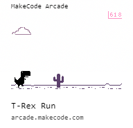 Makecode Arcade T-Rex run