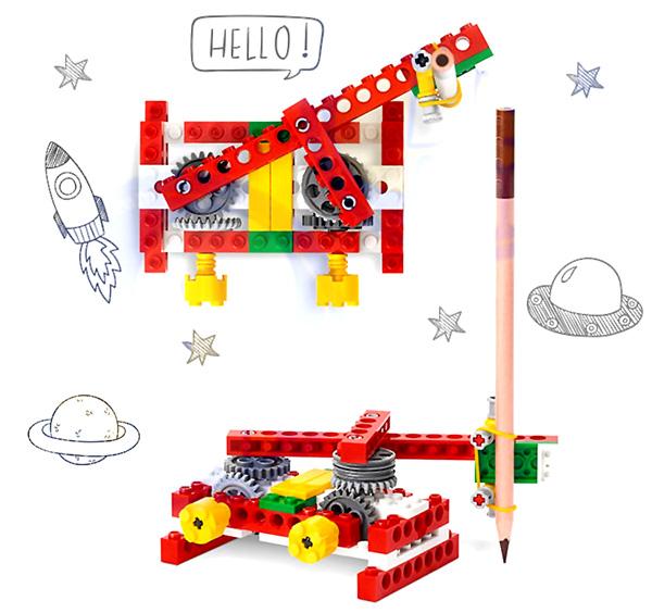 kit de construccion maquinas simples lego compatible modelos