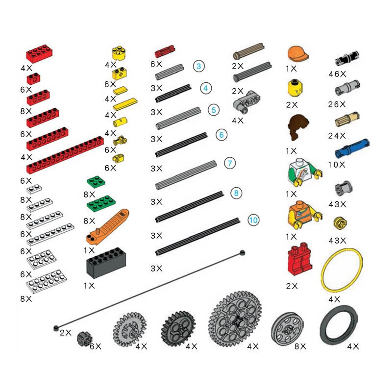kit de construccion maquinas simples piezas